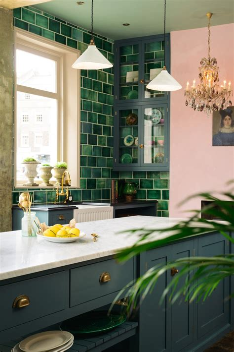 pink green kitchen honestly wtf