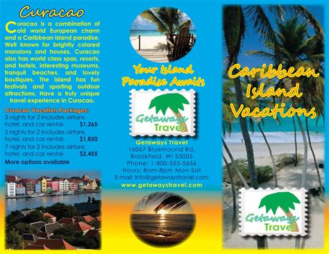 Island Brochure Template by Travel Brochure Lessons Tes Teach Various High