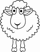 Sheep Coloring Pages Printable Cartoon Cute Shepherd Shaun Simple Drawings Drawing Bighorn Face Minecraft Sheet Am Getcolorings Getdrawings Clipartmag Lamb sketch template