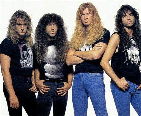 One of the many Megadeth lineups | Dave mustaine, Megadeth ...