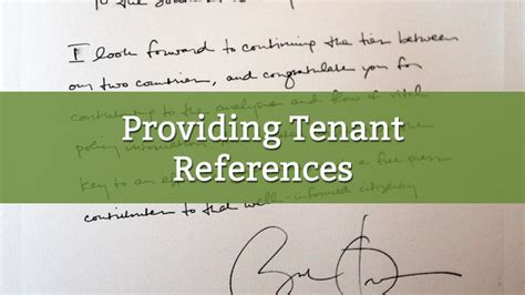 tips  providing tenant references  template