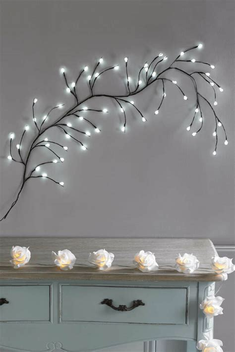 white led branch wall light wall art hanging feature