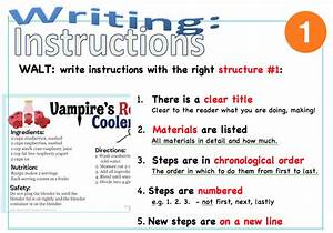 Springston Waka Endeavour  How To Write Instructions