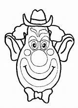 Coloring Face Silly Clown Funny Fun sketch template