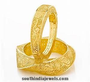 22k Gold Designer Bangle From Joyalukkas ~ South India Jewels