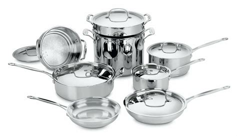 cookware cuisinart stainless steel piece classic chef sets pots pans kitchen chefs bakeware pan pot skillet ultimate pc cooking choice