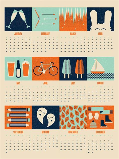 cool creative calendar design ideas web graphic