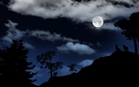 Moon And Clouds Wallpaper by Wallpaper Moon Wolf Clouds Desktop