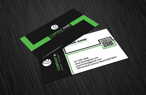 Retro Black White & Green Business Card Template Free Business Cards Printing Edmonton Glasgow Card Chicago Costco Print Near Me Canva Services Tampa