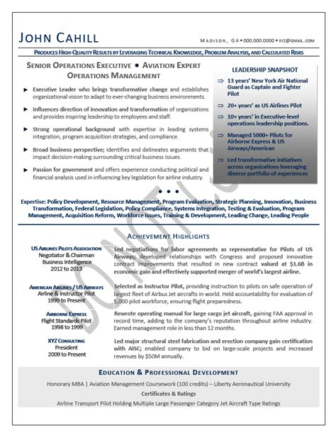 Operating Resume by Coo Resume Sle Chief Operating Officer Resume Sle