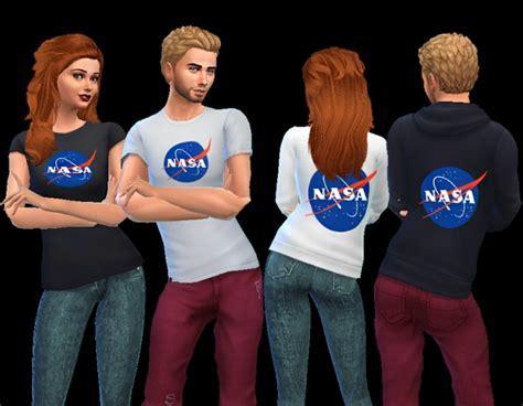 NASA shirt and hoodie at AuriSims » Sims 4 Updates
