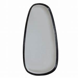 Miroir Metal Noir : miroir mural ovale en m tal noir ~ Teatrodelosmanantiales.com Idées de Décoration