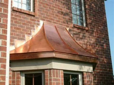 copper bay window roofs copper roofing copper awnings indianapolis youtube