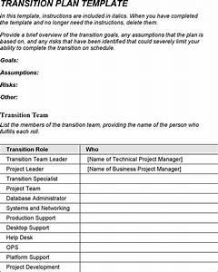 transition plan template download free premium With job transition plan template