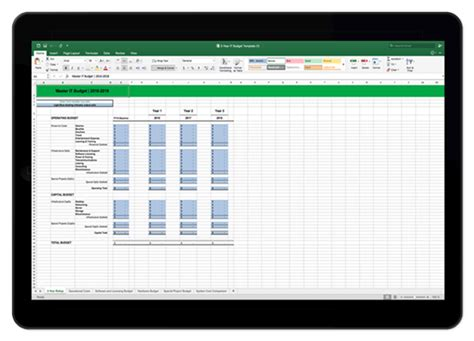 it budget template 3 year it budget template for excel