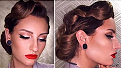 50s Hairstyles Tutorial by 31 And Easy Updo Hairstyles The Goddess