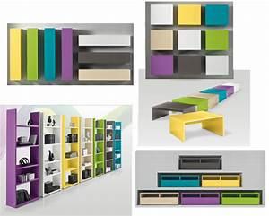 Etagere Murale Jaune : etagere 5 tablettes box anthracite ~ Teatrodelosmanantiales.com Idées de Décoration