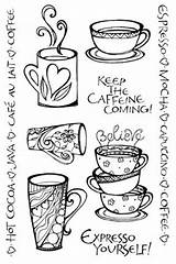 Coffee Doodle Doodles Drawing Painting Yourself Poster Cups Expresso sketch template