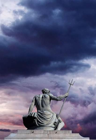 Poseidon Arte Greek Pantalla Fondos Fondo Sculpture