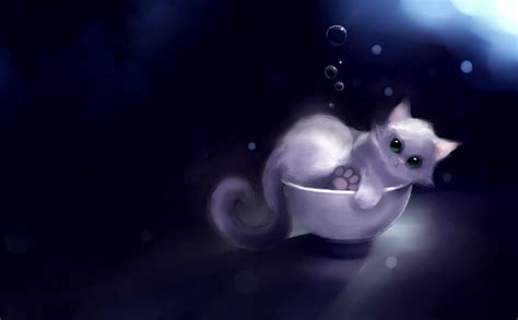 Anime Kitten Wallpaper - anime kitten background wallpaper 18630 baltana