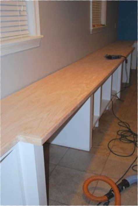 oak plywood countertops caras office  oak plywood