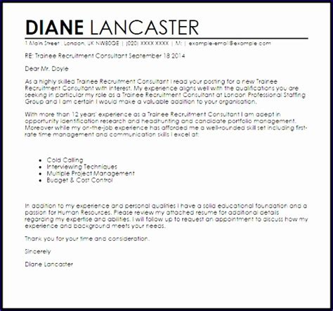 Recruitment Consultant Cover Letter Exle by 9 Excel Sle Templates Exceltemplates Exceltemplates