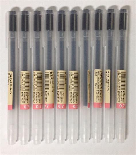 muji bureau amazon com muji gel ink ballpoint pens 0 7mm black color