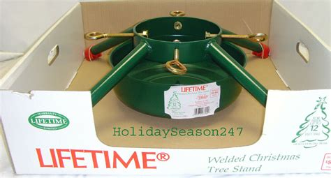 12 christmas tree stand 4 leg large metal live tree stand hold up 12ft 6 25in diameter ebay