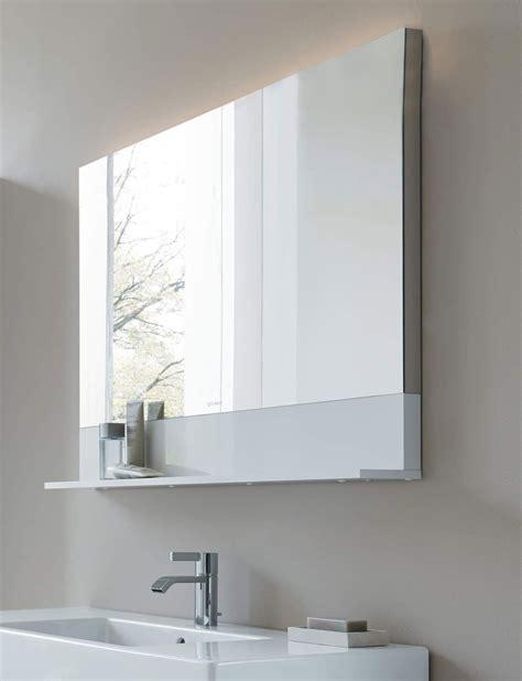 Duravit Bathroom Mirrors by Duravit Vero 400 X 800mm Mirror With White Matt Shelf