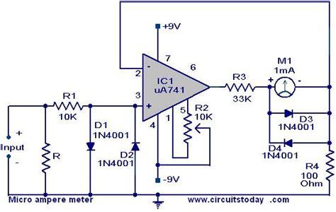Micro Ampere Meter Circuit Using Electronic