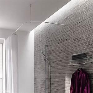 Duschvorhangstange Badewanne L Form : duschvorhangstange aus edelstahl f r die bad gestaltung ~ Orissabook.com Haus und Dekorationen