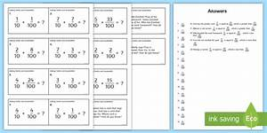 Adding Tenths And Hundredths Task Cards