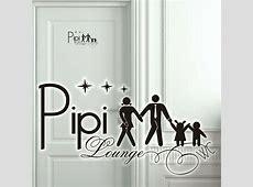 Wandtattoo Pipi Lounge Türaufkleber Bad WC Flur Toilette