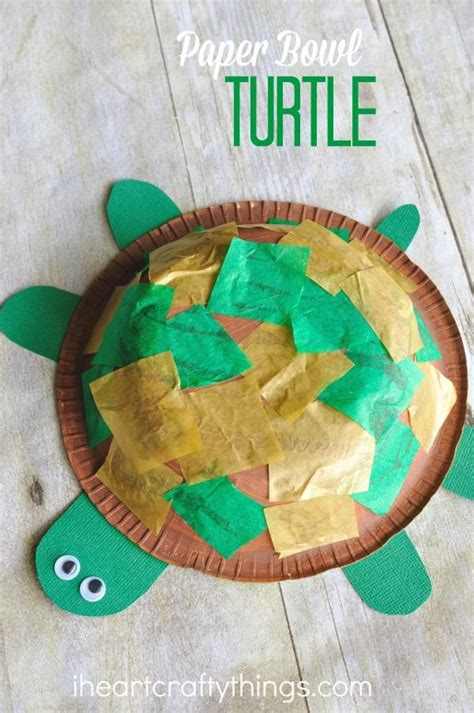 paper bowl turtle craft  kids turtle crafts summer