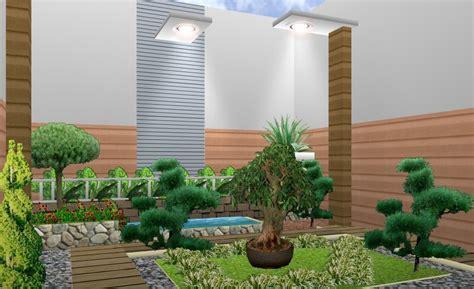 model taman rumah minimalis lahan terbatas desain