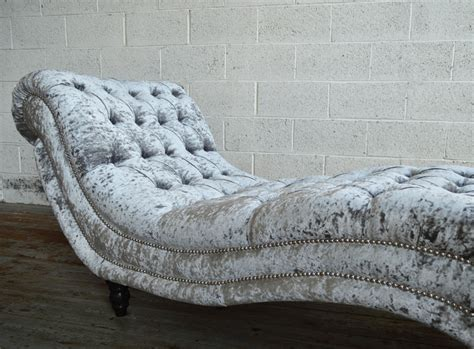 chaise chesterfield bude velvet chesterfield chaise lounge abode sofas