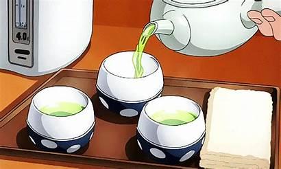 Anime Aesthetic Tea Gifs Cartoon Animated Animation