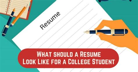 What A Student Resume Should Look Like by What Should A Resume Look Like For A College Student