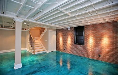 Concrete Floor Paint Ideas Look Like Water, painting