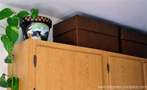 box above kitchen cabinets on storage space go vertical smart diy solutions 4866