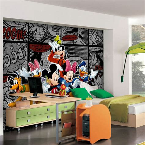 decoration mickey chambre papier peint mickey bd noir disney home