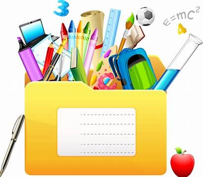 Clipart Stationery Scolaire Borders Ecole Feud Clip