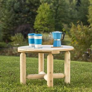 white cedar outdoor round coffee table from bestar With white round outdoor coffee table