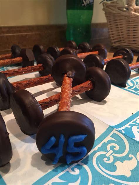 chocolate covered oreo  pretzel barbells   crossfit
