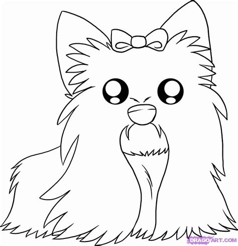 yorkie coloring page coloring home