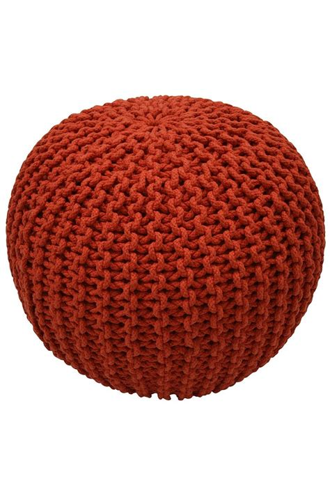knitted ottoman pouf pattern orange knitted pouf to sit on knit and crochet