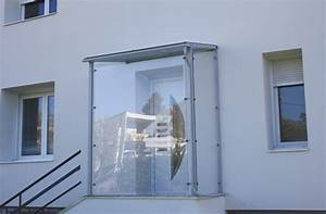 Abri Porte Entrée : crealu design pergolas et abris cr ations sur mesure ~ Edinachiropracticcenter.com Idées de Décoration