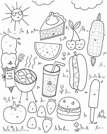 Coloring Pages Printable Picnic Everfreecoloring