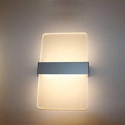 simple fashion aluminum led wall light living room bedroom