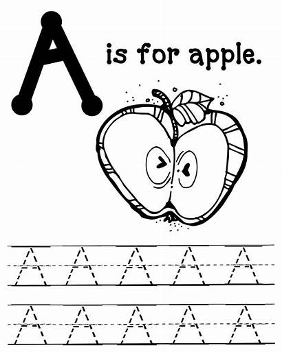 Apple Coloring Pages Letter Printable Apples Worksheets